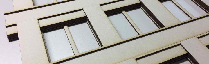 Zuschnitt Fassadenmodell mit Lasercutter