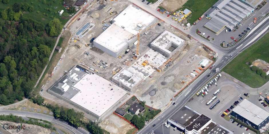 Baustelle NuFa-Center Rothenburg Luftaufnahme 2012