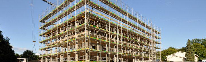 Rohbau des Büro- und Verwaltungsgebäudes steht kurz vor Vollendung